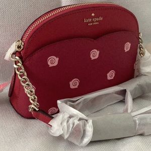Kate Spade Payton Small Dome Crossbody Red…